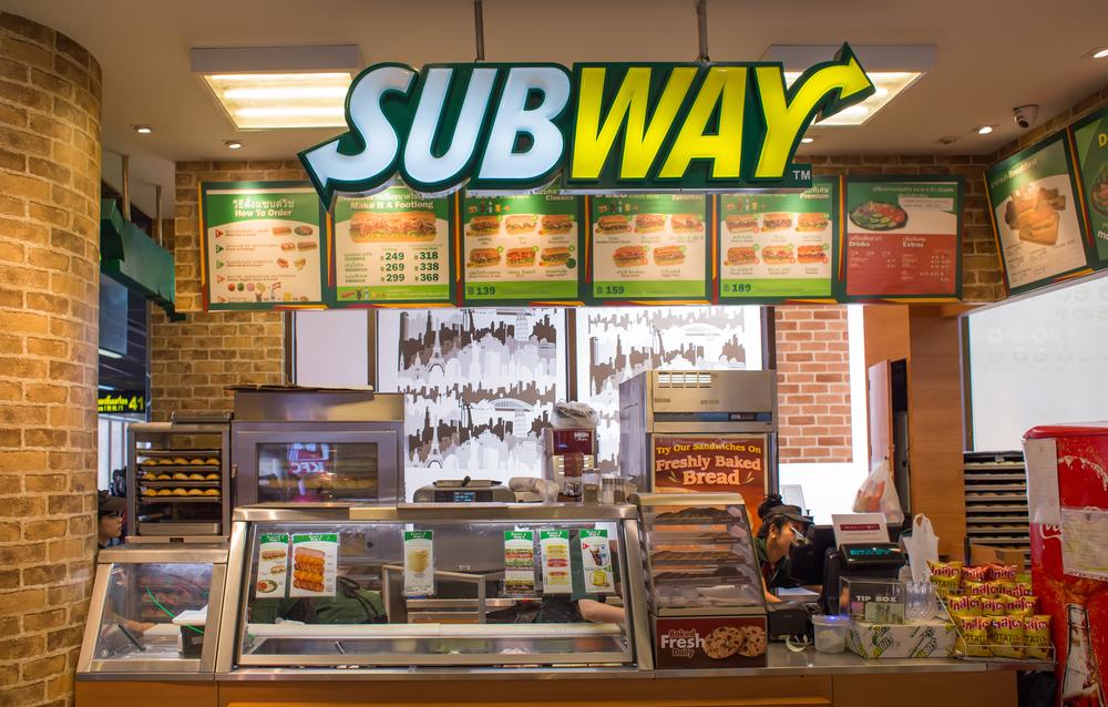Vemos uma loja da Subway em um shopping (imagem ilustrativa).