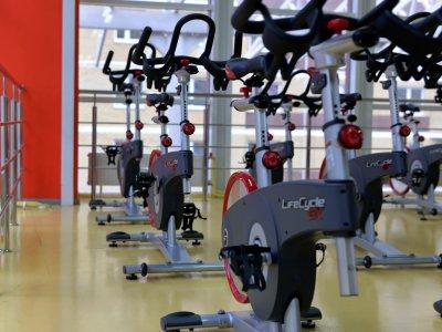 Foto de várias bicicletas em um estúdio. Imagem ilustrativa para texto franquia de bem-estar Velocity.